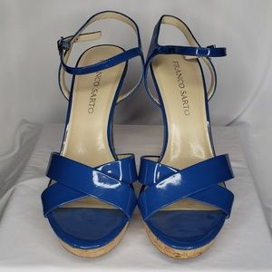 Franco Sarto Vaunt Blue Sandals